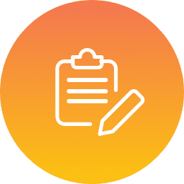 Clipboard & pencil icon