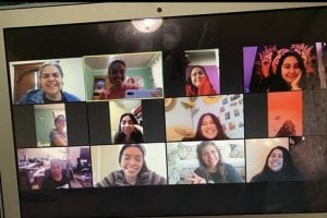 People in video chat